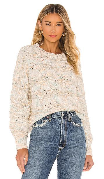 MINKPINK Kasey Knit Sweater in White