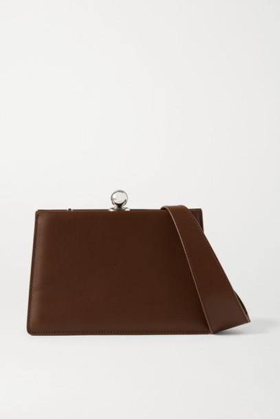 Ratio et Motus - Mini Twin Leather Shoulder Bag - Brown