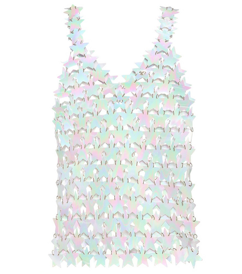 Paco Rabanne Star top in white