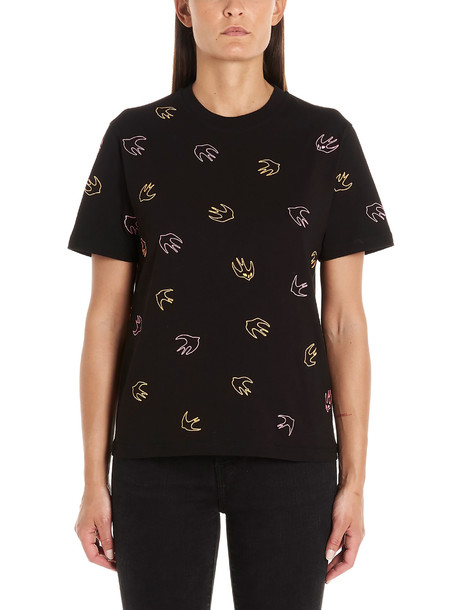 Mcq Alexander Mcqueen swallow T-shirt in black