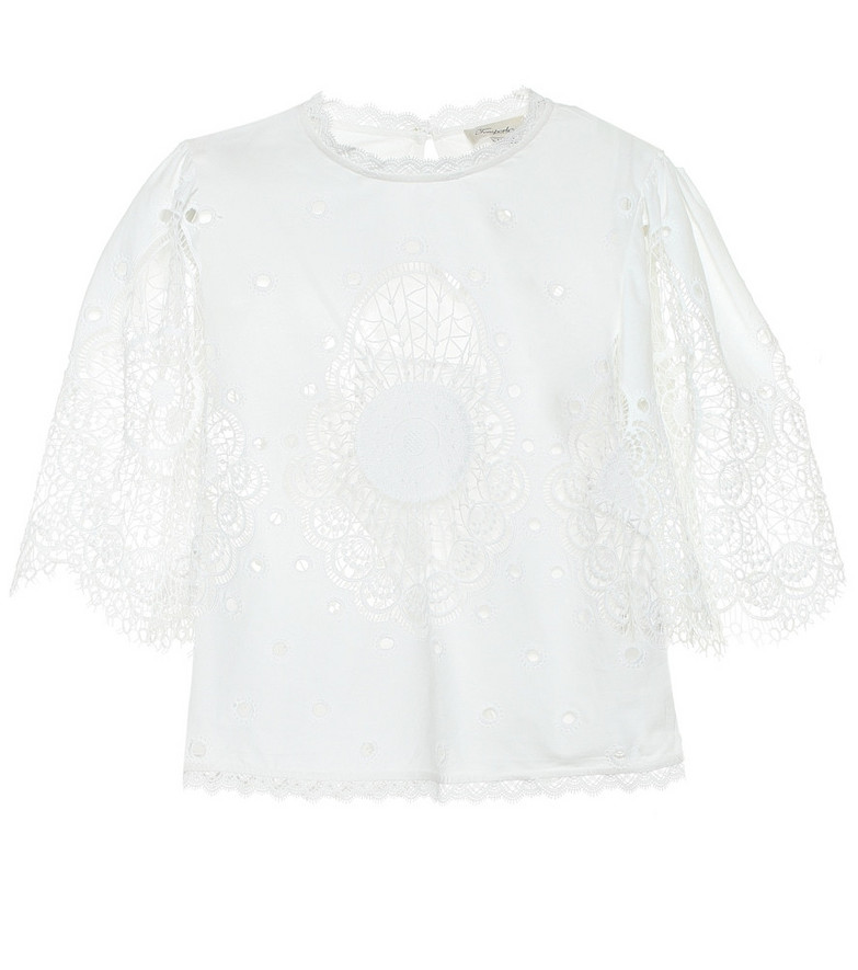 Temperley London Judy lace top in white
