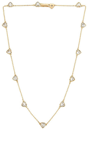 BaubleBar Necklace with Heart Stations in Metallic Gold