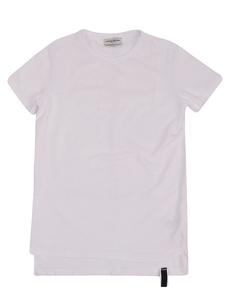 Paolo Pecora Crew Neck Short Sleeve T-shirt in white