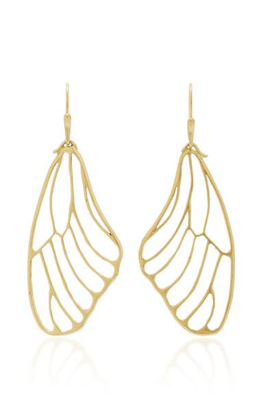 Annette Ferdinandsen 18K Gold Butterfly Wing Earrings