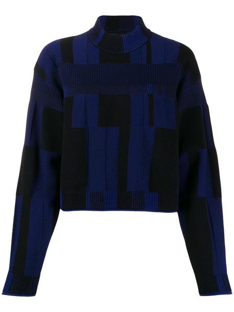 Proenza Schouler Pullover in black / blue