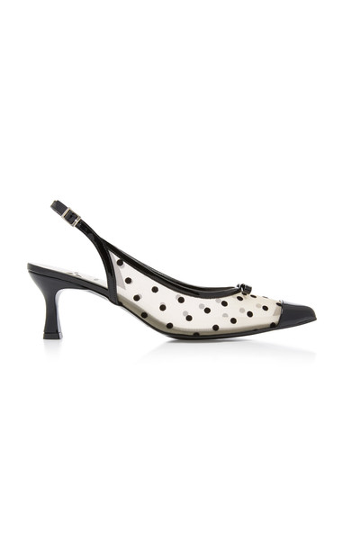 Yuul Yie Polkadot Transparent Leather Pump Size: 37.5 in black