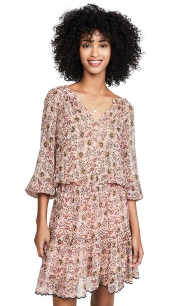 Velvet Aubrey Dress in pink
