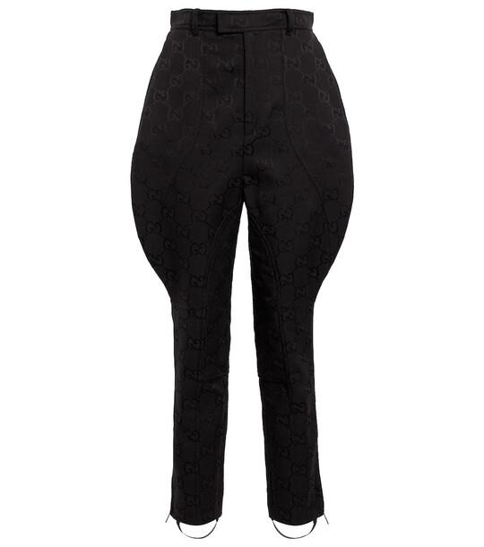 Gucci Aria cotton-blend jodhpur pants in black
