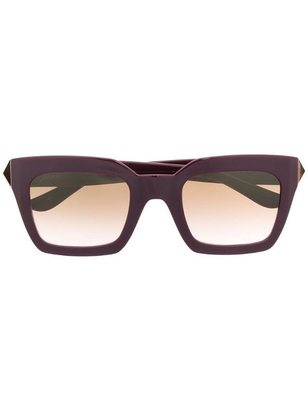 Jimmy Choo Eyewear cat-eye tinted sunglasses in purple