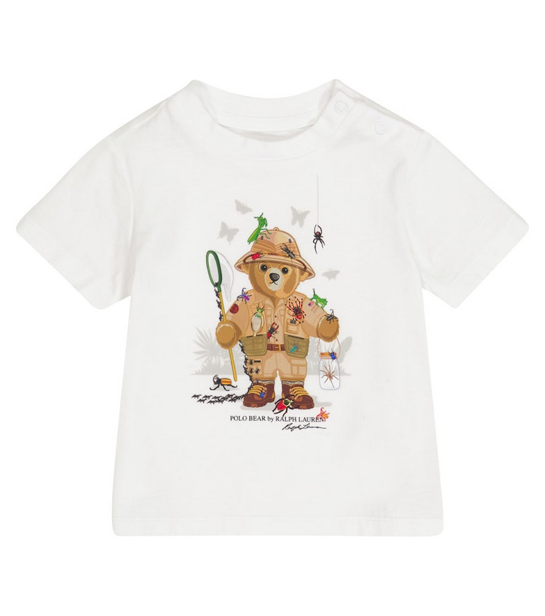 Polo Ralph Lauren Kids Baby Polo Bear cotton jersey T-shirt in white