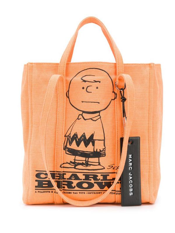 Marc Jacobs x Peanuts Charlie Brown The Tag tote in orange