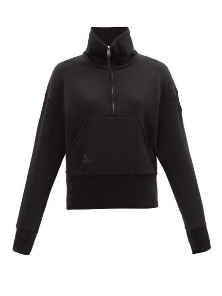 Moncler - Logo-patch Cotton-jersey Sweatshirt - Womens - Black