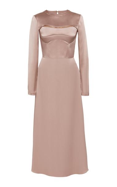 Brandon Maxwell Two-Piece Detachable Silk Bustier Dress Size: 0 in purple