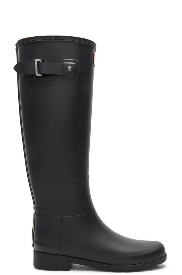 Hunter Original Refined Tall Boot in black