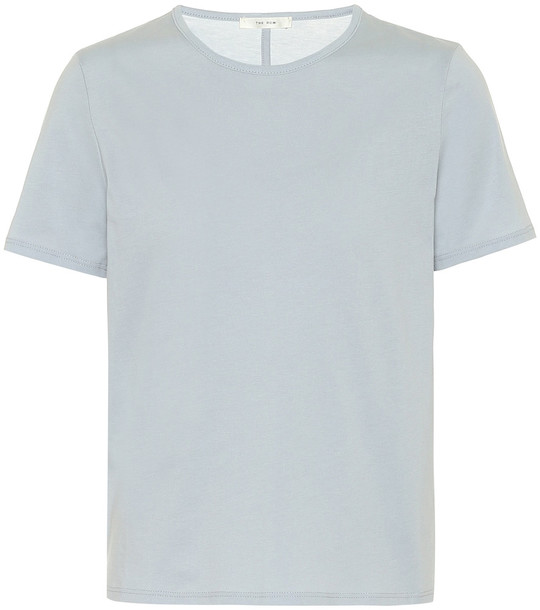 The Row Leah cotton-jersey T-shirt in blue
