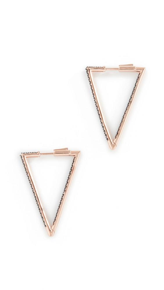 Nickho Rey Bermuda Triangle Hoop Earrings in black / white