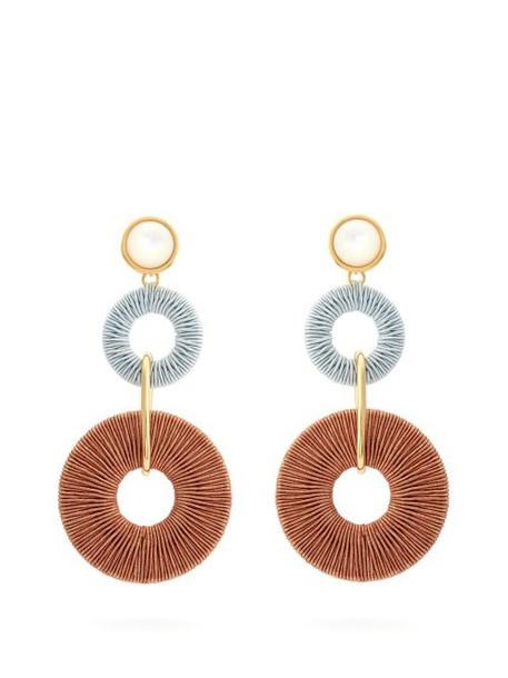 Lizzie Fortunato - Corsica Cord Drop Earrings - Womens - Brown