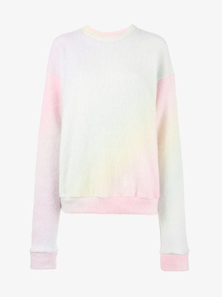 The Elder Statesman pastel tie dye cashmere sweater