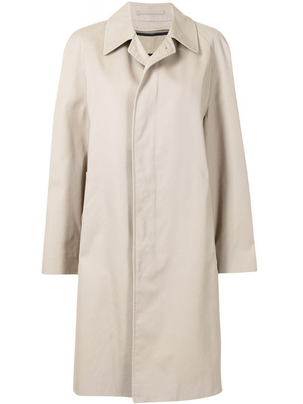 Burberry Pre-Owned concealed fastening knee-length coat in brown