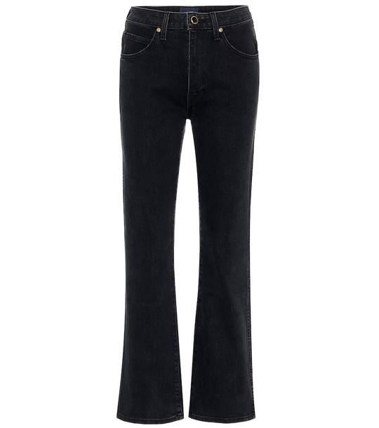 Khaite Vivian high-rise straight jeans in black