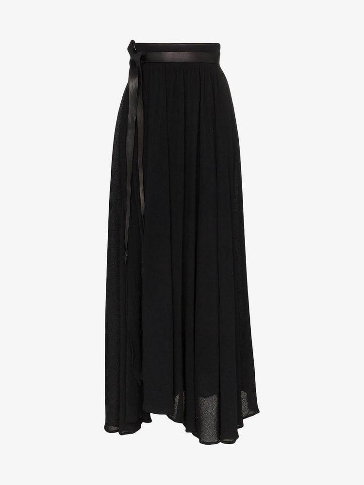 Caravana wrap maxi skirt in black