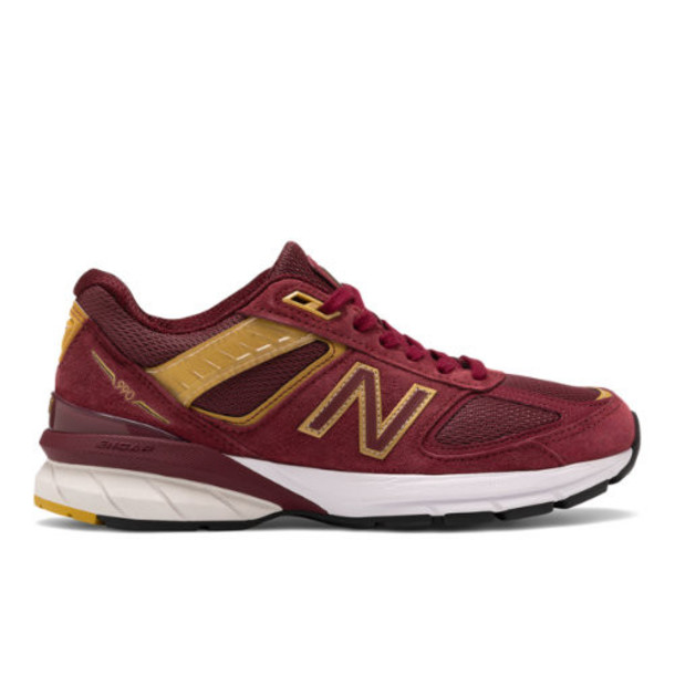 New Balance Made in US 990v5 Women's Shoes - Red/Gold (W990BG5)