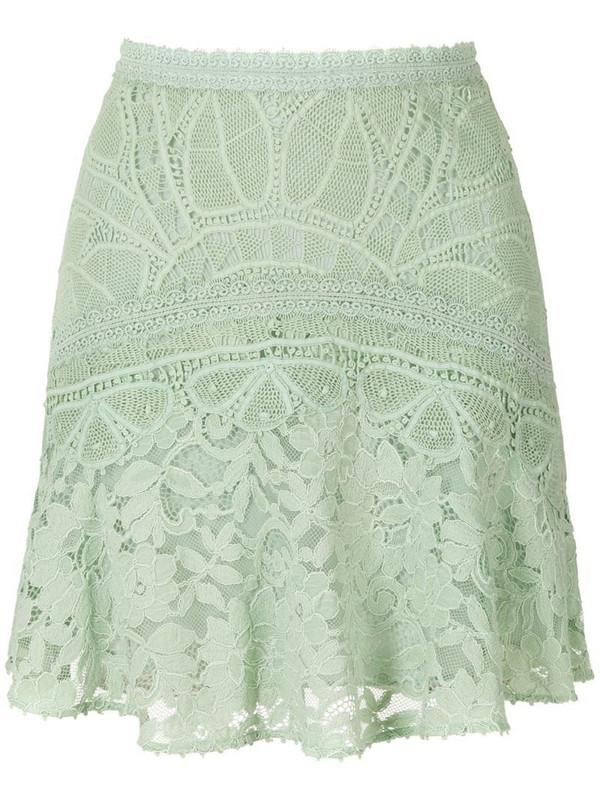 Martha Medeiros Rosália lace short skirt in green