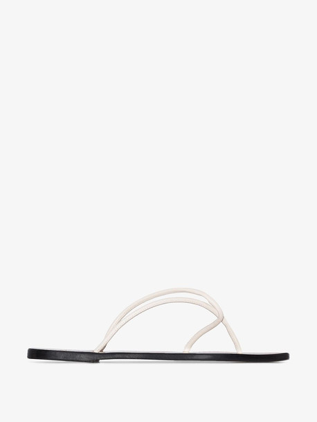 Atp Atelier white alessano leather sandals