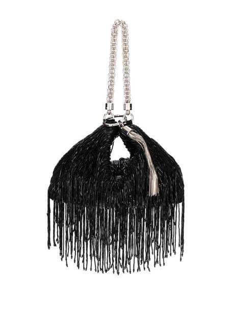 Jimmy Choo Callie fringed clutch in black