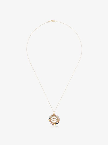 Ileana Makri 18k gold embellished eye pendant Y-D-MCS necklace