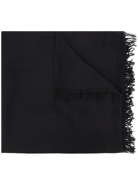 Faliero Sarti fringe detail scarf in black