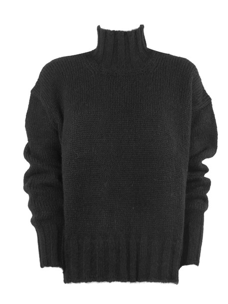 Dondup Black Alpaca Sweater