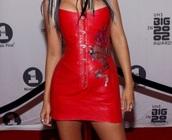 dress,christina aguilera dark red   long thin body dresses corset