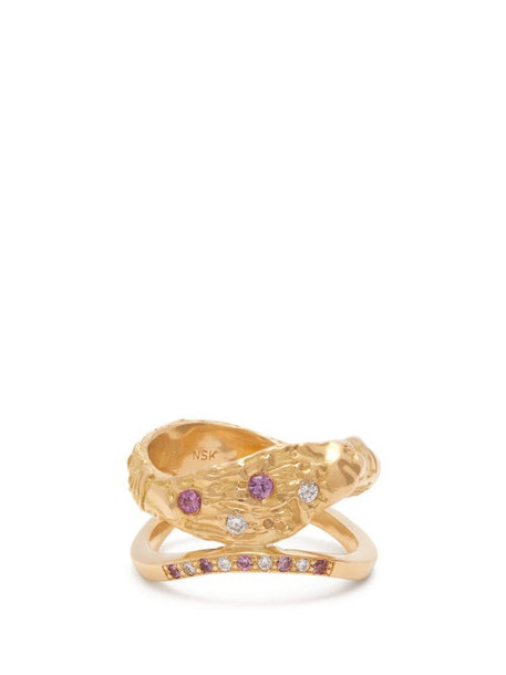 Nadia Shelbaya - 115 Diamond, Sapphire & 18kt Gold Ring - Womens - Gold