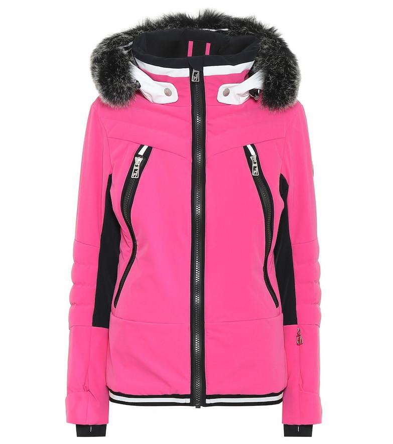 Toni Sailer Cosima fur-trimmed ski jacket in pink