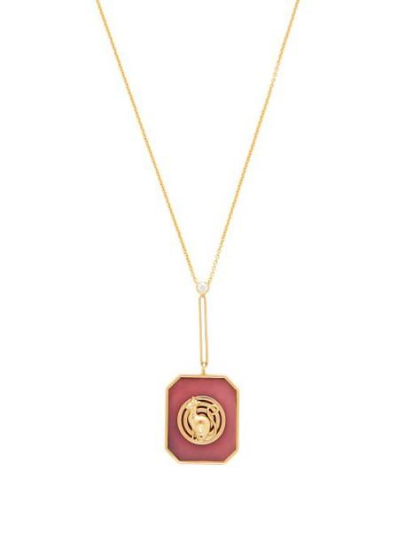 Retrouvai - Lucky Token Diamond, Opal & Gold Necklace - Womens - Pink