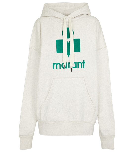 Isabel Marant, Étoile Mansel logo cotton-blend hoodie in green