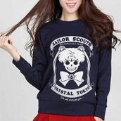 sweater,sailor moon,anime,cartoon,meme,graphic sweater,sweatshirt,tumblr,fall outfits,winter outfits