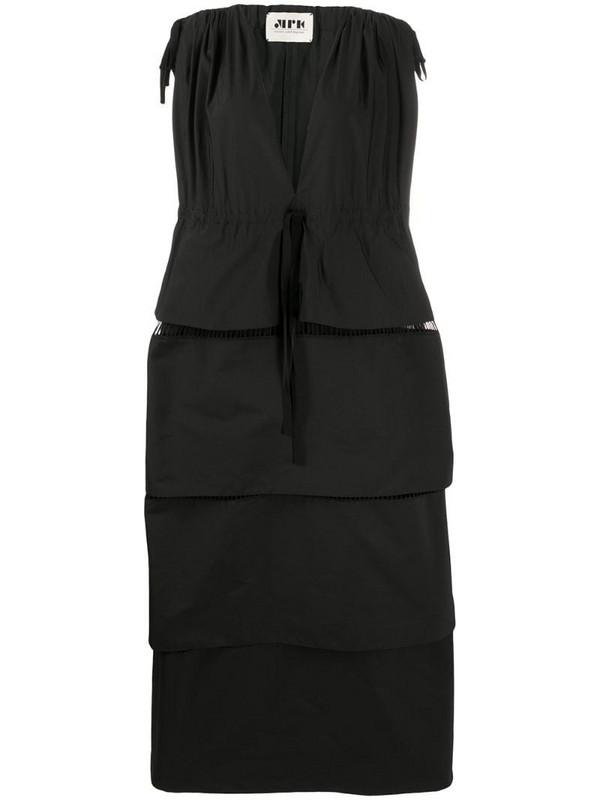 Maison Rabih Kayrouz ruffle tiered full-length dress in black
