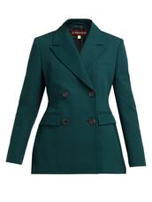 blazer,double breasted,dark,cotton,green,jacket