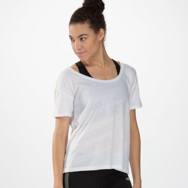 New Balance 4184 Women's Inspire Layering Tee - White (WFT4184WT)