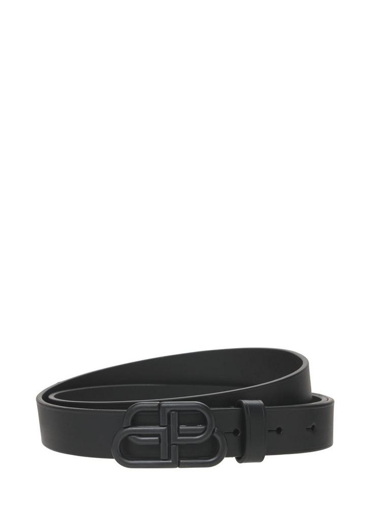 BALENCIAGA Bb Leather Belt in black