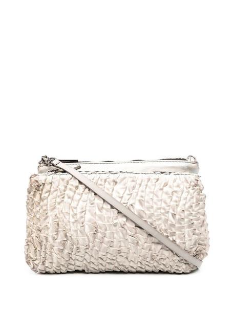 Numero 10 zip-up leather satchel in grey