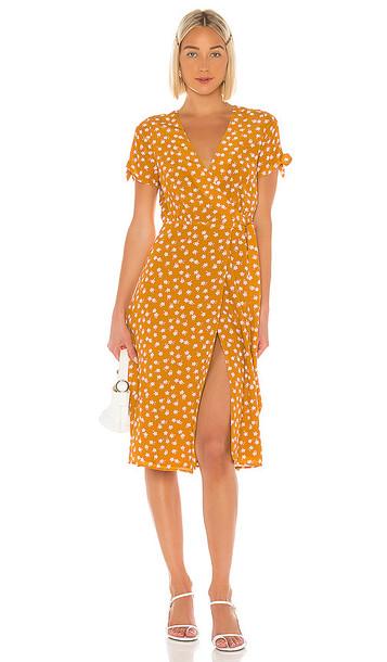 Privacy Please Rosalie Midi Dress in Mustard