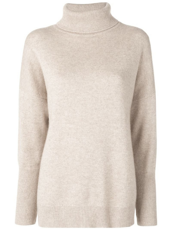 Chinti and Parker loose cashmere sweater in neutrals