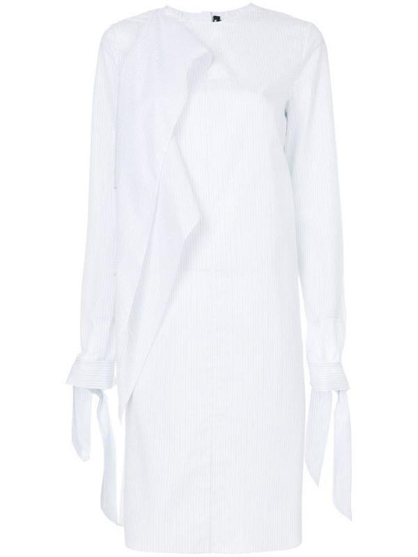 Calvin Klein 205W39nyc asymmetric striped dress in white