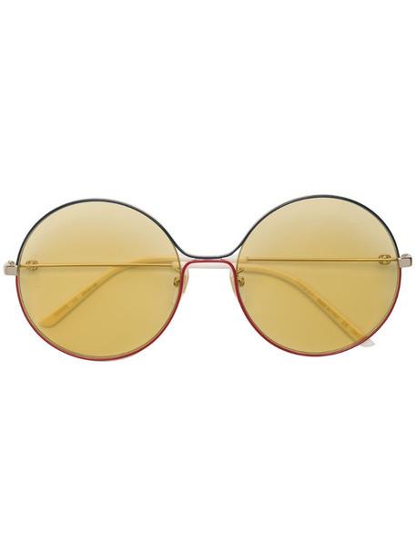 Gucci Eyewear round metal sunglasses in metallic