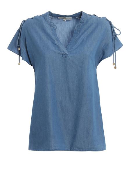 Michael Kors Lace-up Shoulder Top