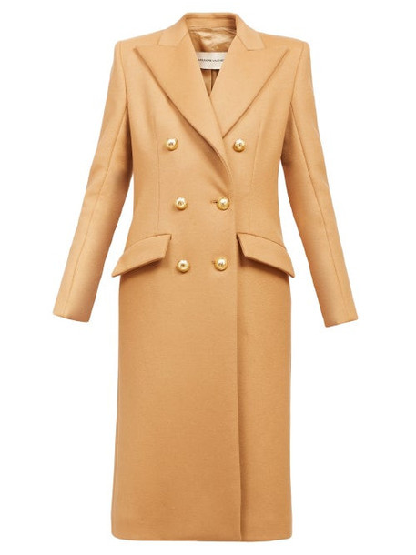 Alexandre Vauthier - Double-breasted Longline Coat - Womens - Beige