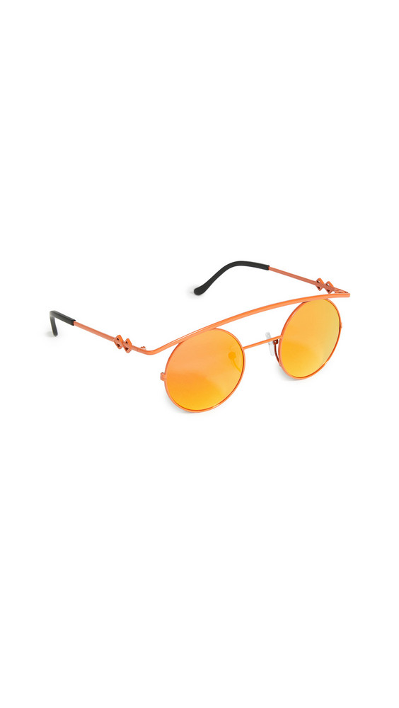 Karen Wazen Retro's XL Sunglasses in orange